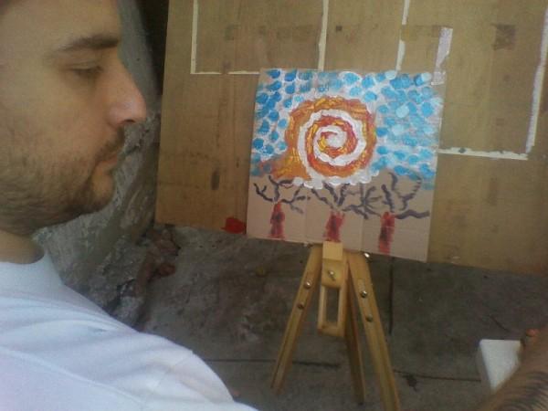 pictura-progres-eternul-cer-albastru